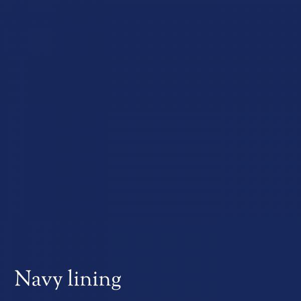 Navy lining