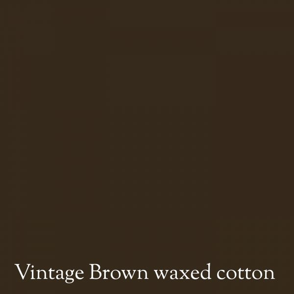 Vintage brown waxed cotton