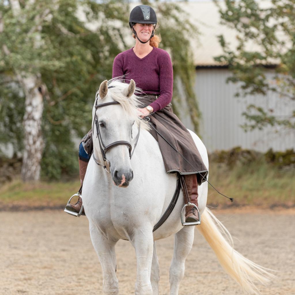 Model Jody on her horse