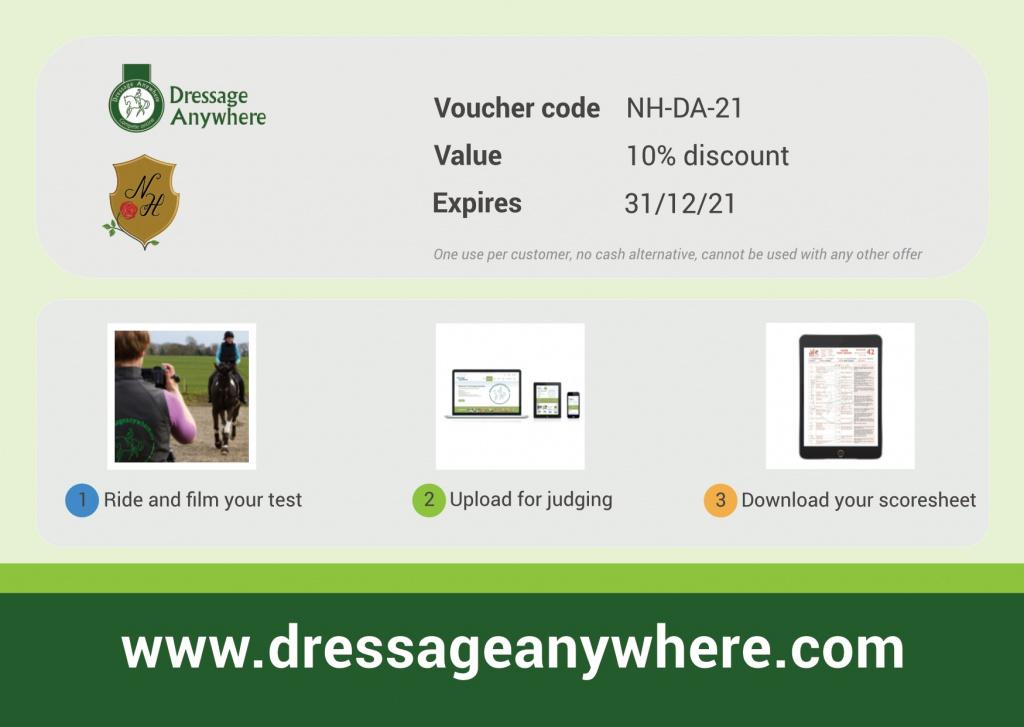 Dressage Anywhere code