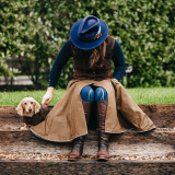 The Moorland – Riding Skirt in French Mustard