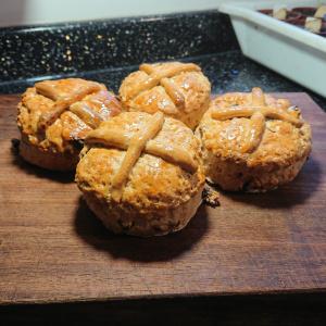 Frashly baked Hot croos scones